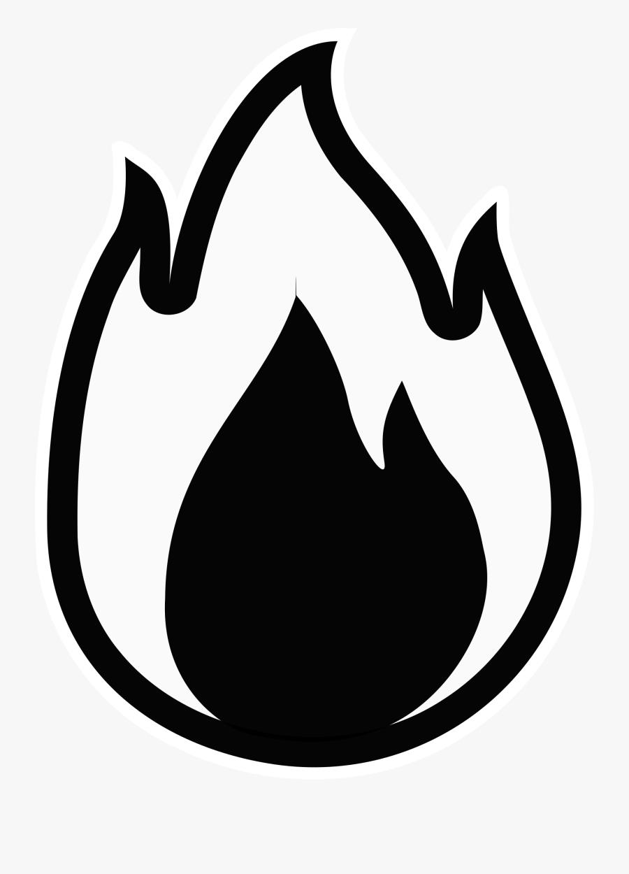 Clipart Fire Monochrome Regarding Fire Clipart - Fire Vector Black And White, Transparent Clipart