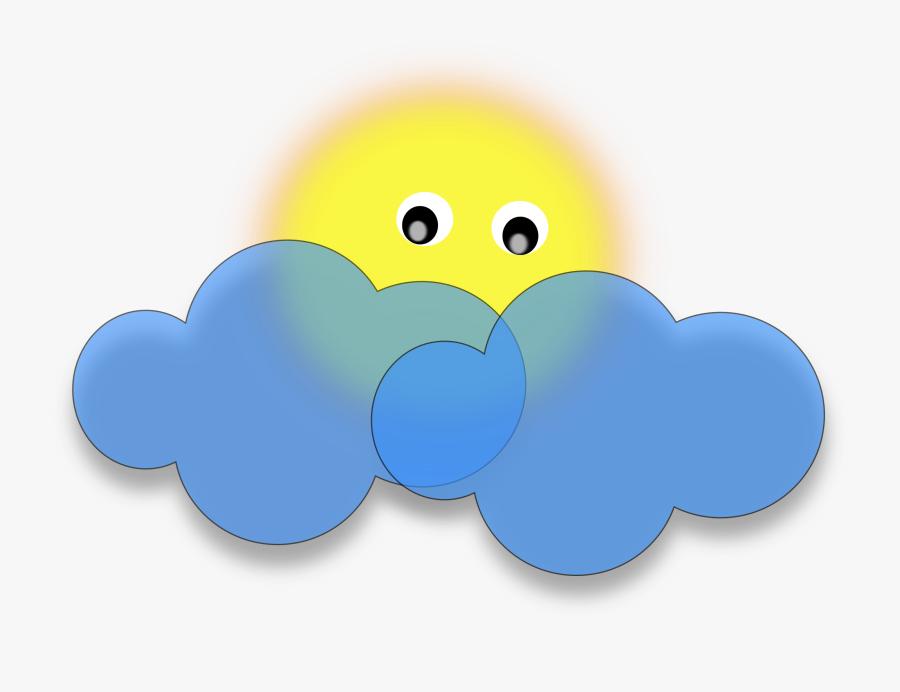 Sun Behind The Cloud Vector Clipart Image - Cloud And Sun Cartoon Png Png, Transparent Clipart