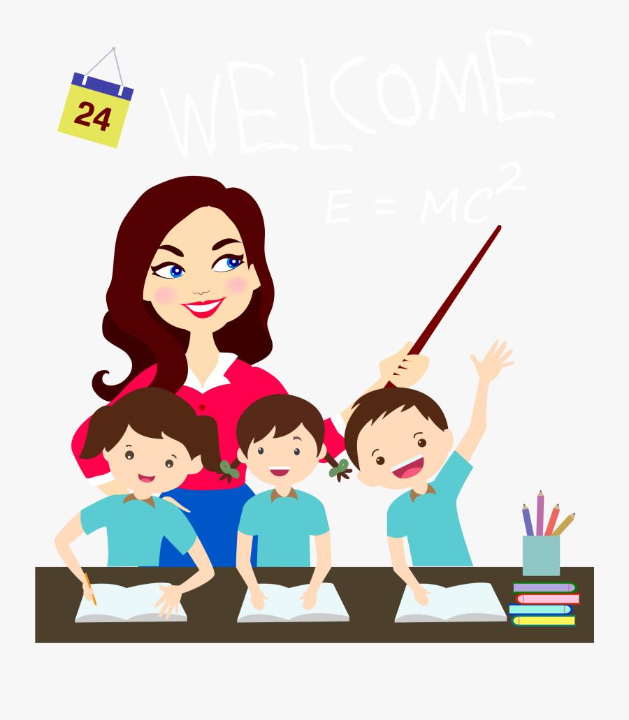 Teacher Clipart Png- - Teachers Day Png Transparent , Free ...