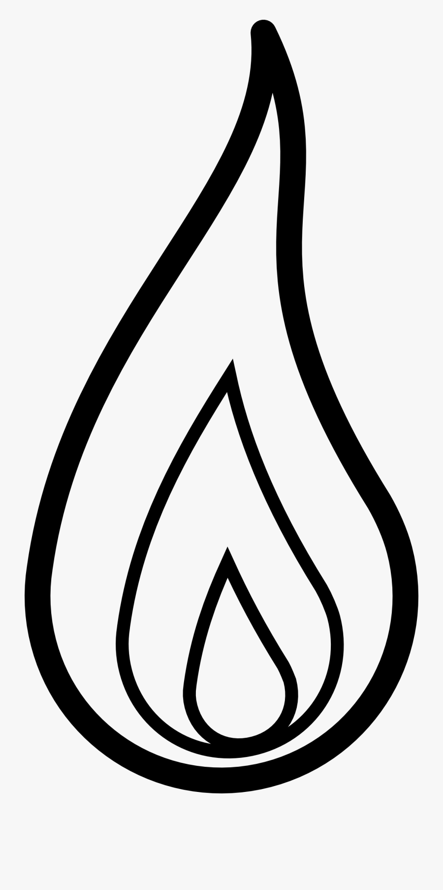 Flame Black And White Clipart, Transparent Clipart