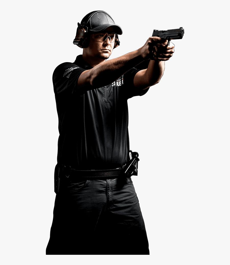 Men Shooting Gun Clipart - Guy Shooting Gun Png, Transparent Clipart