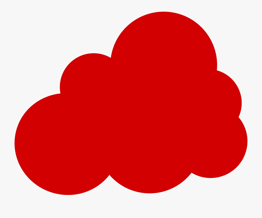 Clipart Red Cloud Clip Art Clouds With Sun Rays Clip - Cloud Computing Logo Red, Transparent Clipart