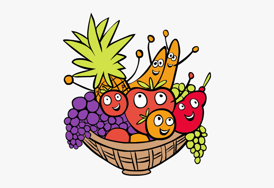 Clip Art Bowl Of Fruit Clip Art - Fruit Basket Clip Art, Transparent Clipart