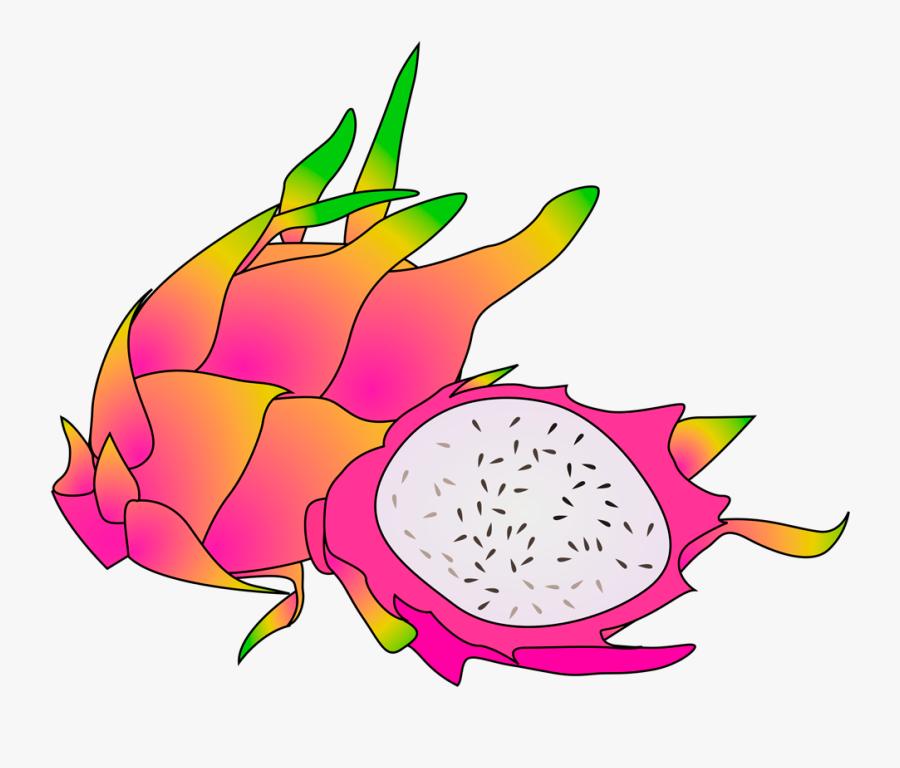 Dragon Fruit Clipart Transparent - Dragon Fruit Fruit Clipart, Transparent Clipart