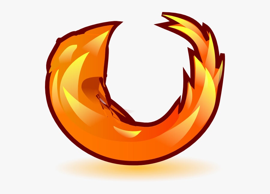Flames Clipart Flame Circle - Mozilla Firefox, Transparent Clipart
