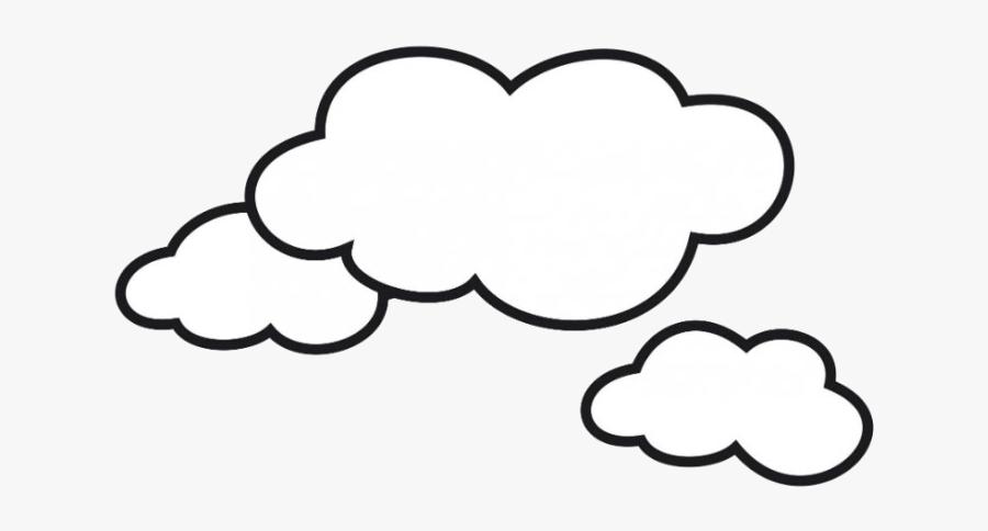 Cloud Clipart Transparent Background Png - Clouds Coloring, Transparent Clipart