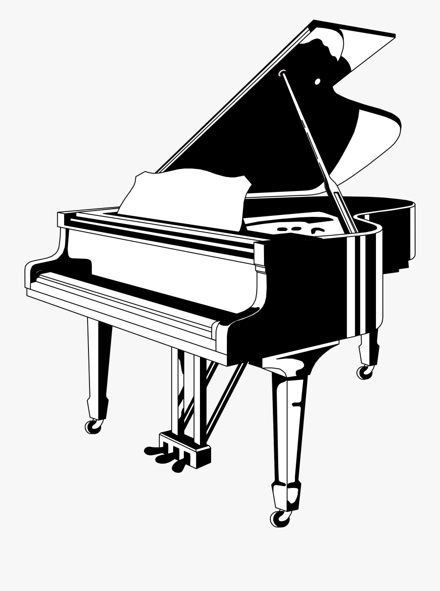 Piano Clip Art Pictures Free Clipart Images - Piano Black And White, Transparent Clipart
