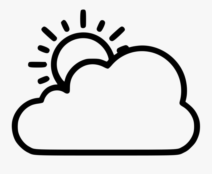 Clip Art Sun Clip Art - Sun And Cloud Clipart Black And White, Transparent Clipart