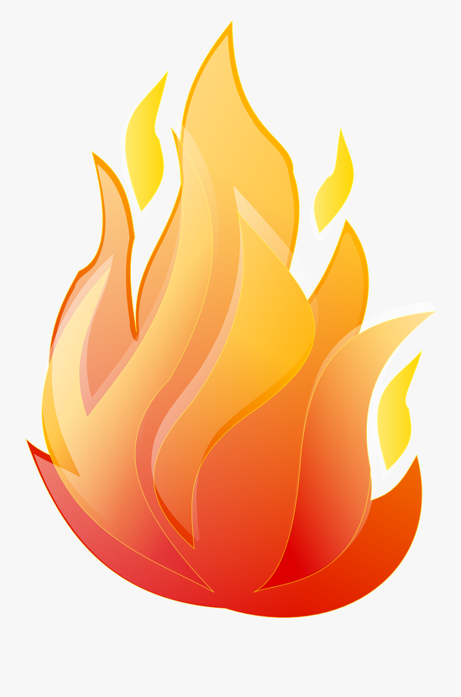 Free Vector Graphic Fire Flame Campfire Bonfire Image - Animated Transparent Background Fire Png, Transparent Clipart