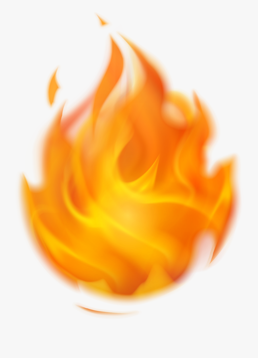 Flame Clipart Transparent Background - Clipart Transparent Background Fire, Transparent Clipart