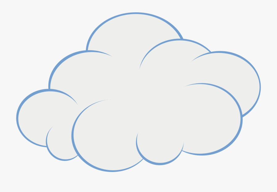 File Cartoon Cloud Picture - Transparent Background Cartoon Clouds, Transparent Clipart