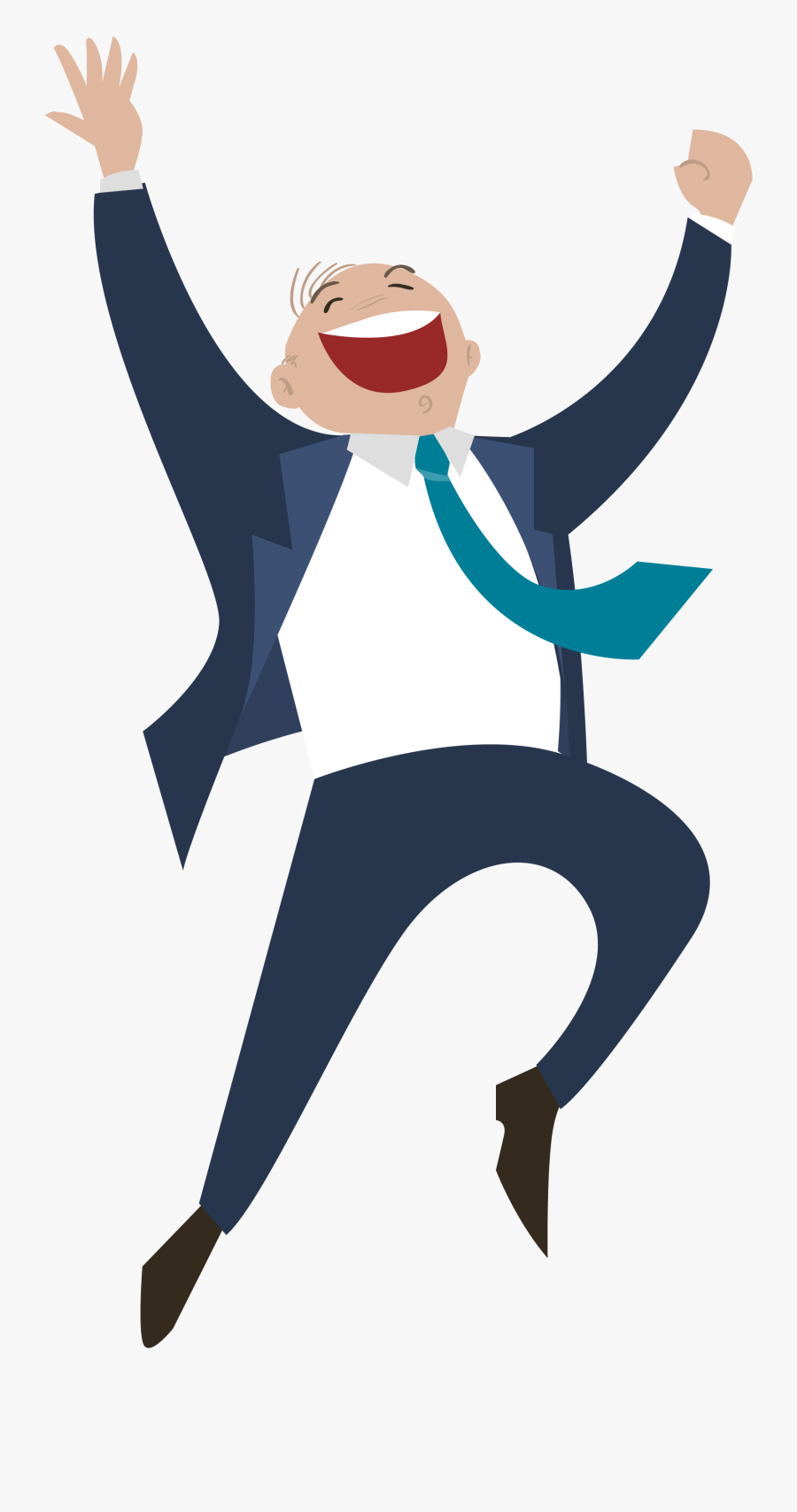 Transparent Man Jumping Png - Clipart Happy People Png, Transparent Clipart