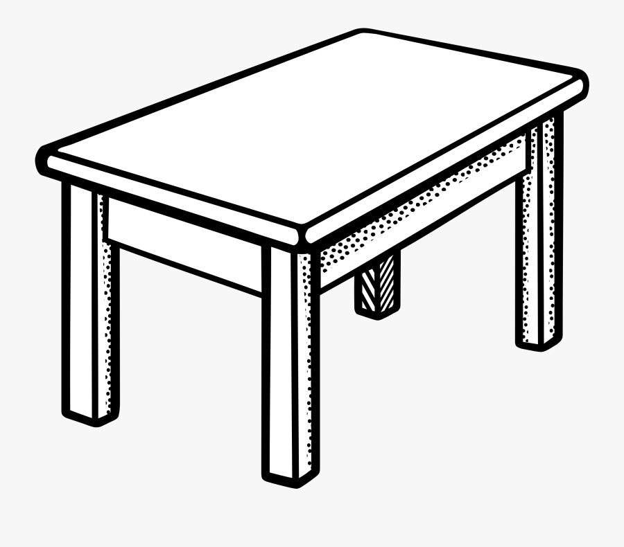Clip Art Tables Clipartall - Table Black And White, Transparent Clipart
