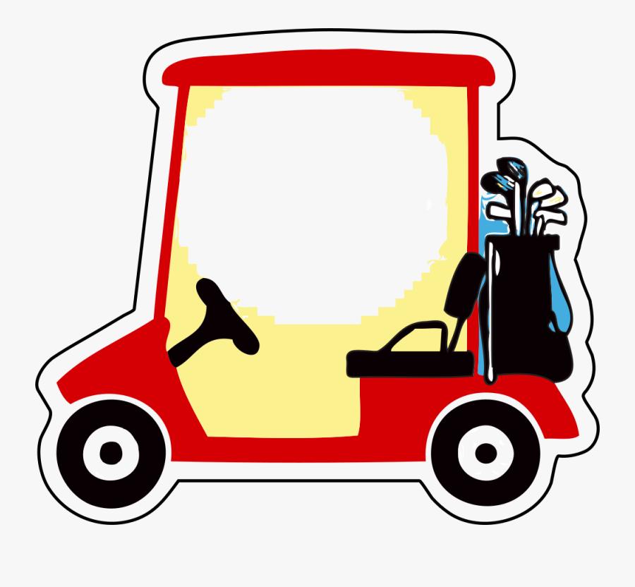 Area,car,line - Golf Cart Clipart, Transparent Clipart