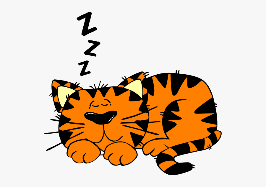 """Clip Art Royalty Free Can""""t Sleep Clipart - Clipart Sleeping Cat, Transparent Clipart"""