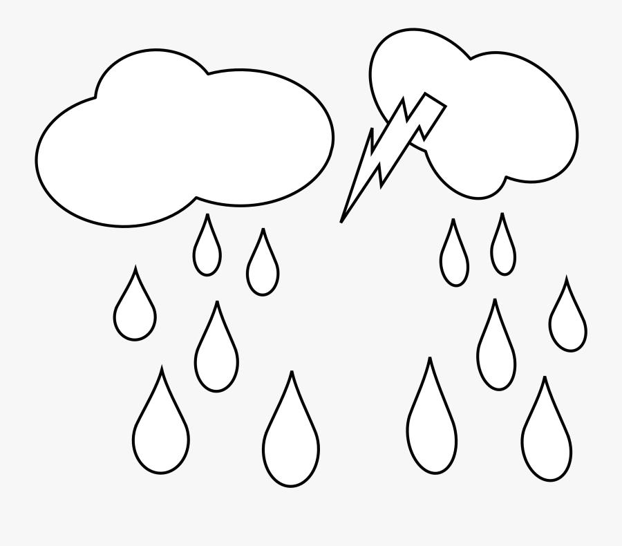 Rain Cloud Clipart Black And White Clipart Panda - White Cloud Rain Png, Transparent Clipart