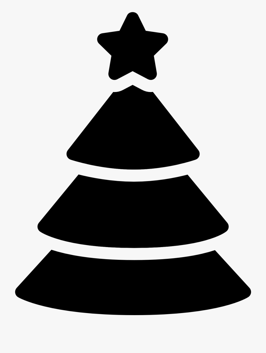 Christmas Tree Black Png With Holiday Computer Icons - Black And White Christmas Icon, Transparent Clipart