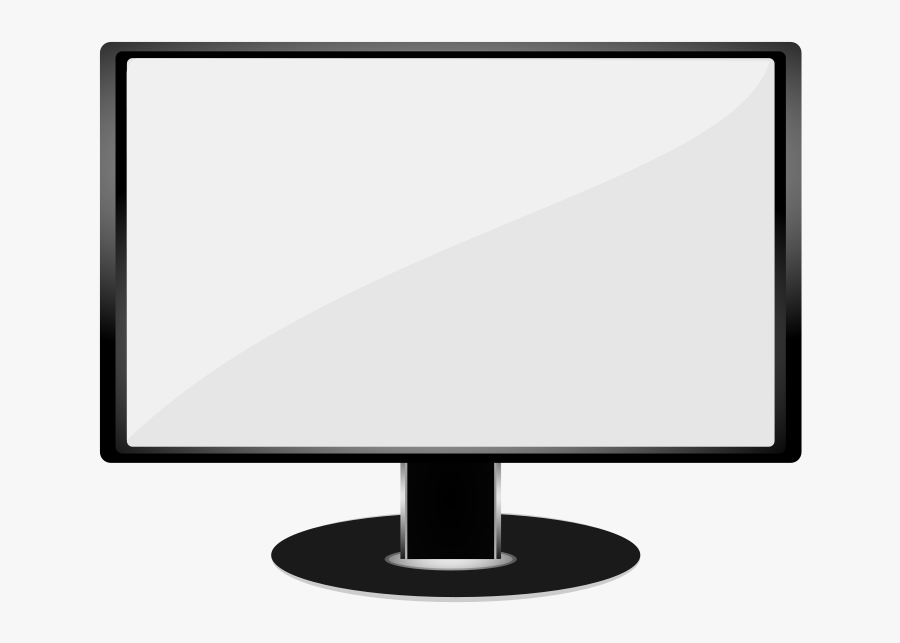 Image Of It Computer Clipart Black And White - Computer Monitor Clipart Black And White, Transparent Clipart
