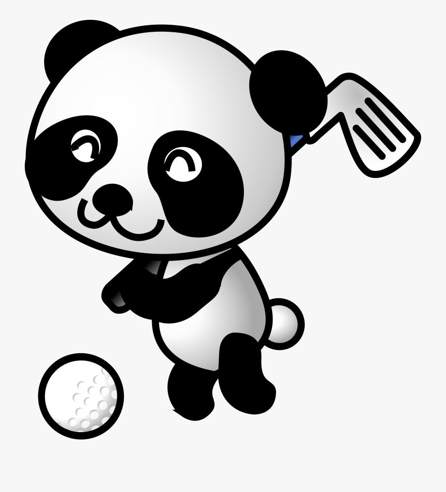 Golf Ball Clip Art Download - Panda Golf, Transparent Clipart