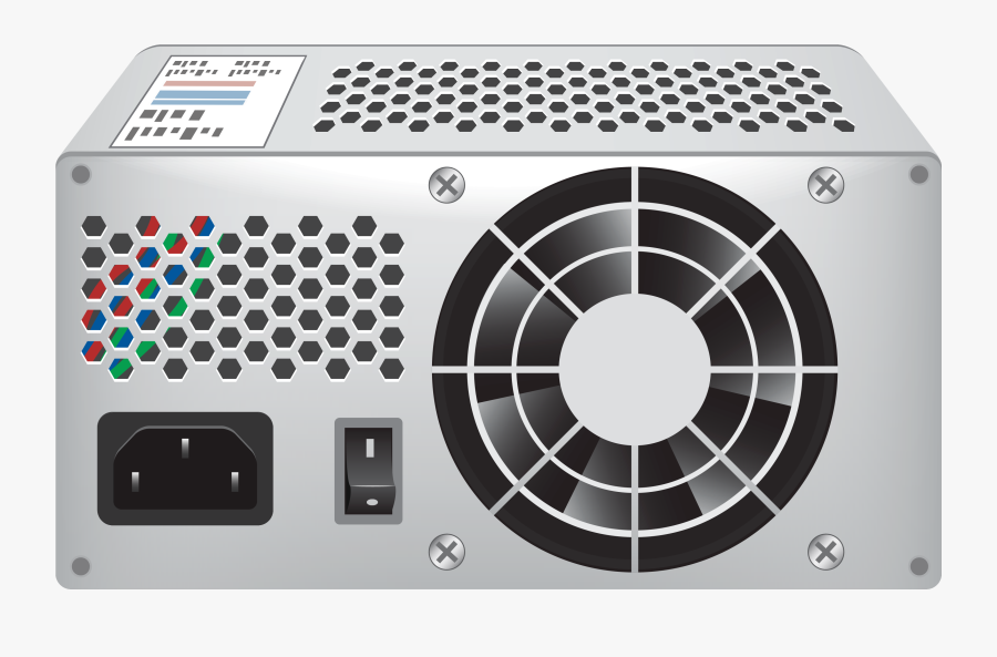 Standard Computer Power Supply Png Clipart - Back Of The Computer Case, Transparent Clipart