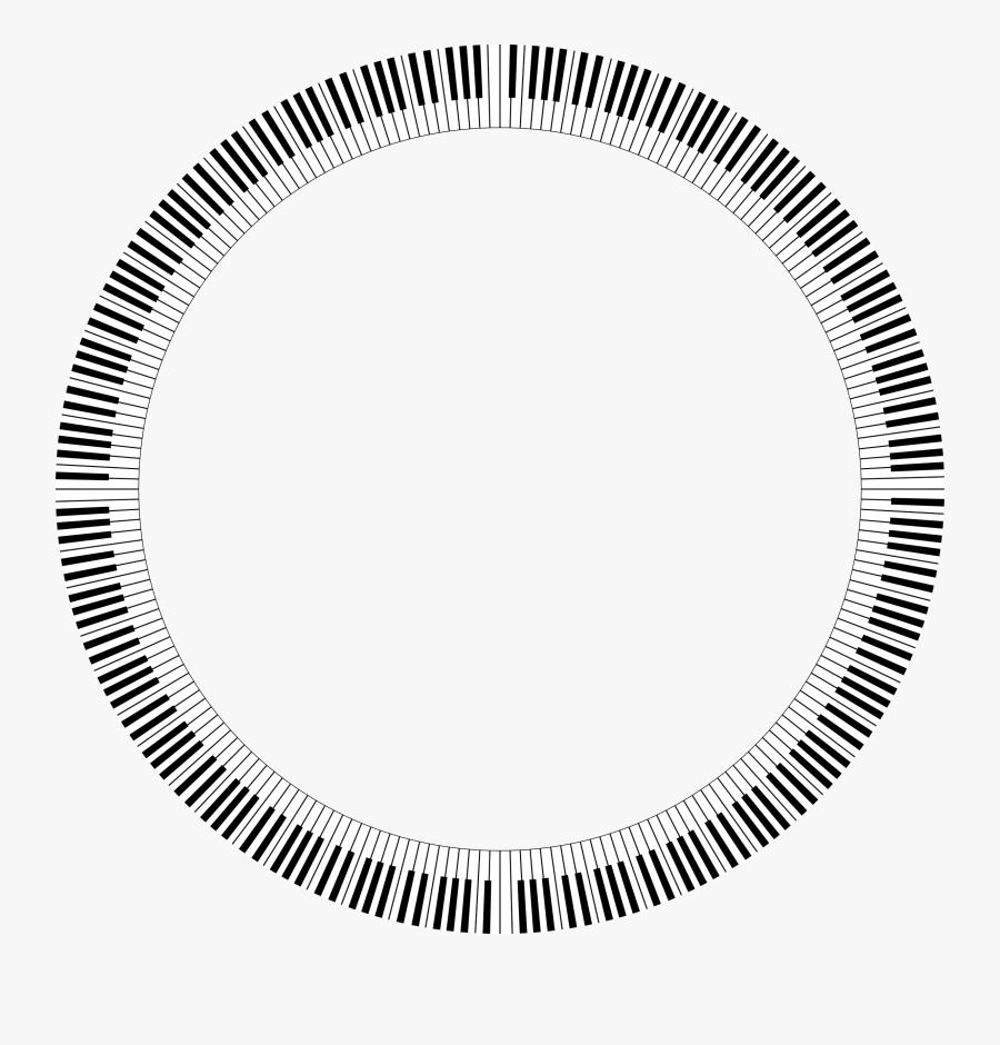 Clipart Piano Keys Circle Medium Clipart - Tire Circle, Transparent Clipart