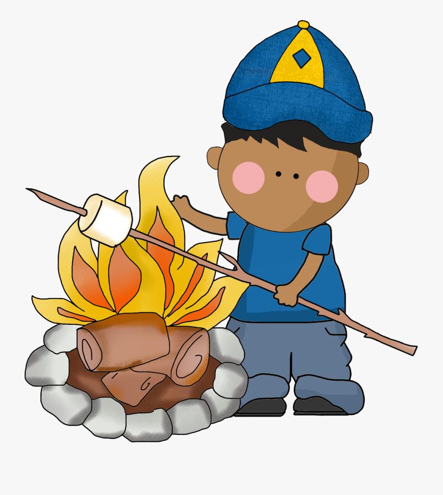 Transparent Around The Campfire Clipart - Cub Scouts Roasting Clipart, Transparent Clipart