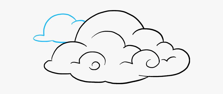 Cloud Clipart Drawing - Draw Clouds, Transparent Clipart