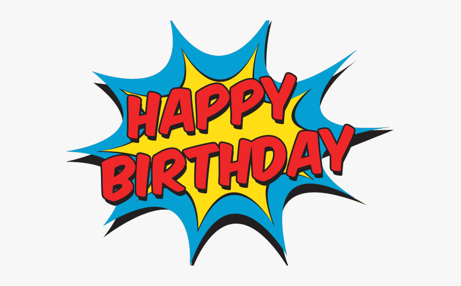 Happy Birthday Comic Png, Transparent Clipart