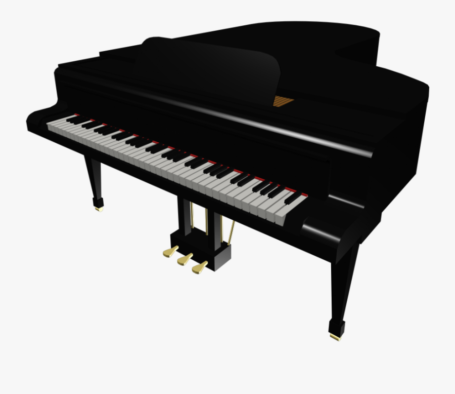 Transparent Free Piano Clipart - Grand Piano Musical Instrument, Transparent Clipart