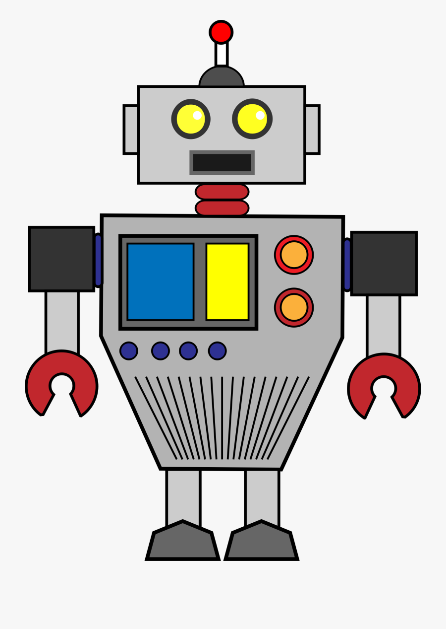 Robot Clip Art Black And White Free Clipart Images - Clipart Robot, Transparent Clipart