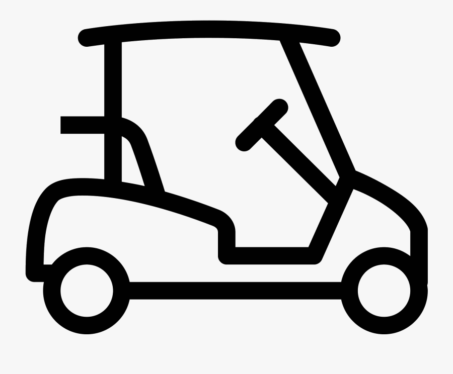 Golf Cart Images Free Royalty Free Library - Golf Car Clipart Black And White, Transparent Clipart