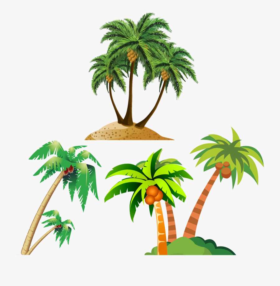Coconut Arecaceae Royalty Free - Palm Tree Beach Png, Transparent Clipart