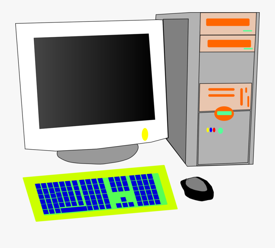 Computer Monitor,electronic Device,personal Computer - Old Monitor Crt Desktop Computer, Transparent Clipart