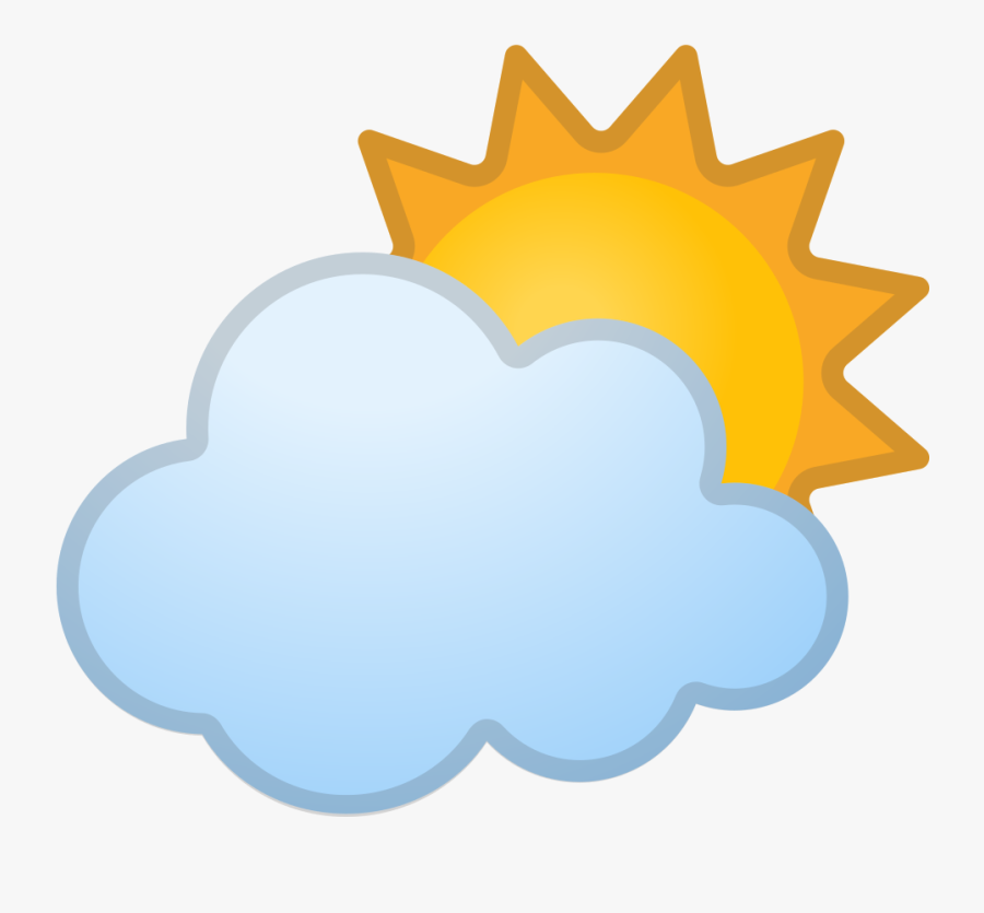 Sun Behind Cloud Icon - Nepal Map With Flag Png, Transparent Clipart
