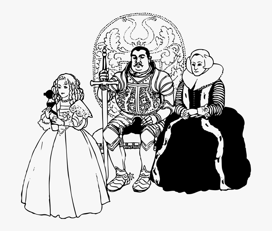 Free Vector The Knight Family Clip Art - Royal Family Word Search, Transparent Clipart