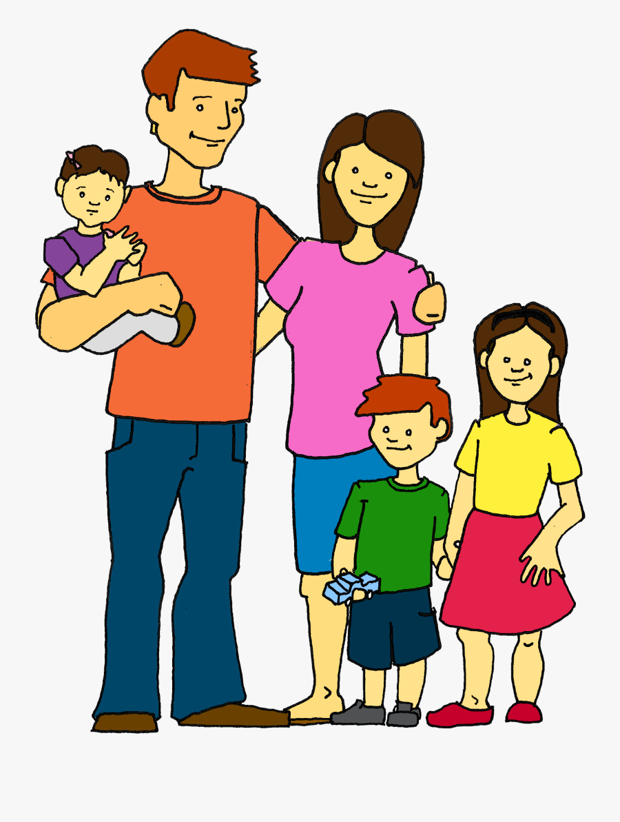 My Family Clipart Kid - Clip Art Of A Family, Transparent Clipart