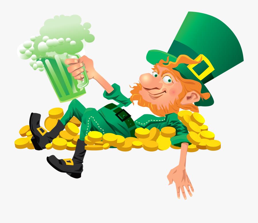 Green Leprechaun Clipart - Leprechaun Png Transparent, Transparent Clipart