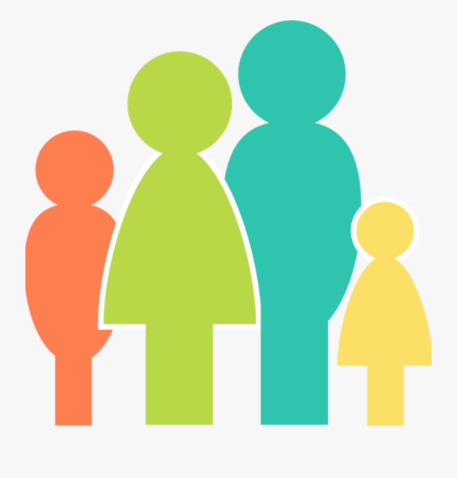 4 People In A Family, Transparent Clipart