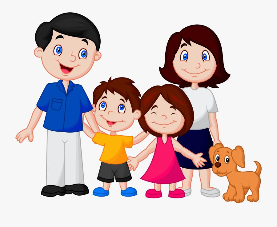 Фото, Автор Soloveik - Happy Family Cartoon, Transparent Clipart