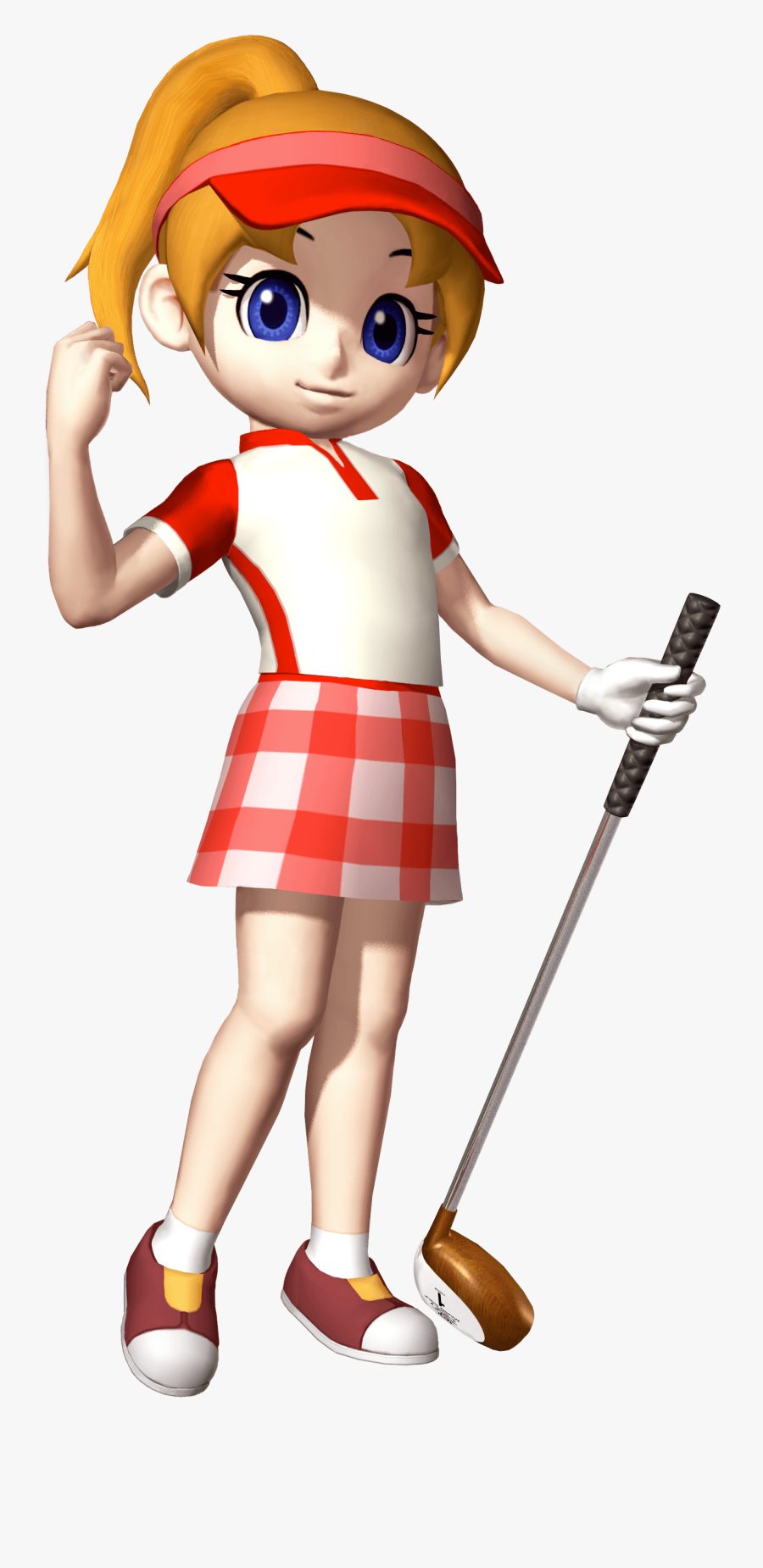 See Here Golf Clip Art Free Downloads - Mario Golf Advance Tour Ella, Transparent Clipart