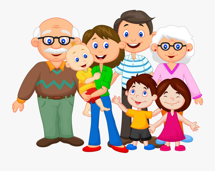 Happy Family Cartoon Png - Extended Family Clipart, Transparent Clipart