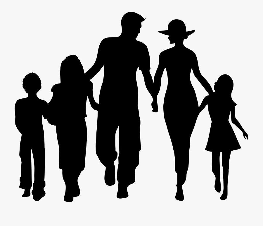Clipart Family Silhouette - Transparent Background Family Png, Transparent Clipart