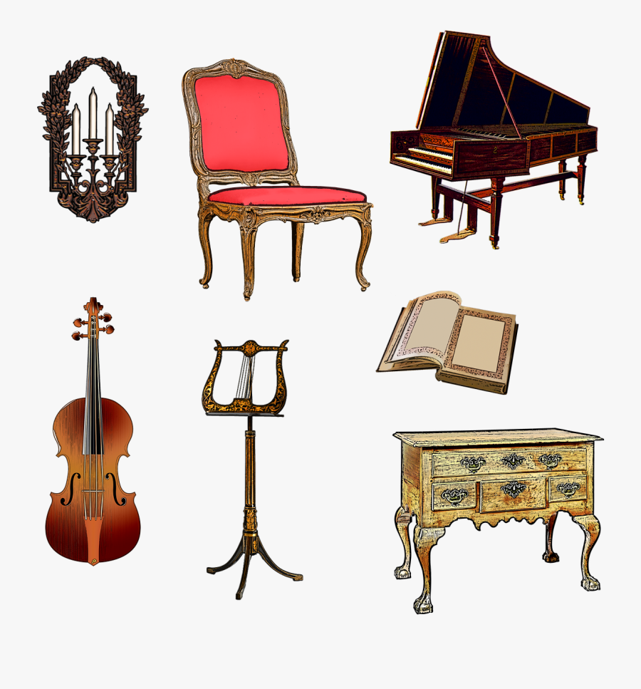 Piano Clipart Hobby - Harpsichord Png, Transparent Clipart