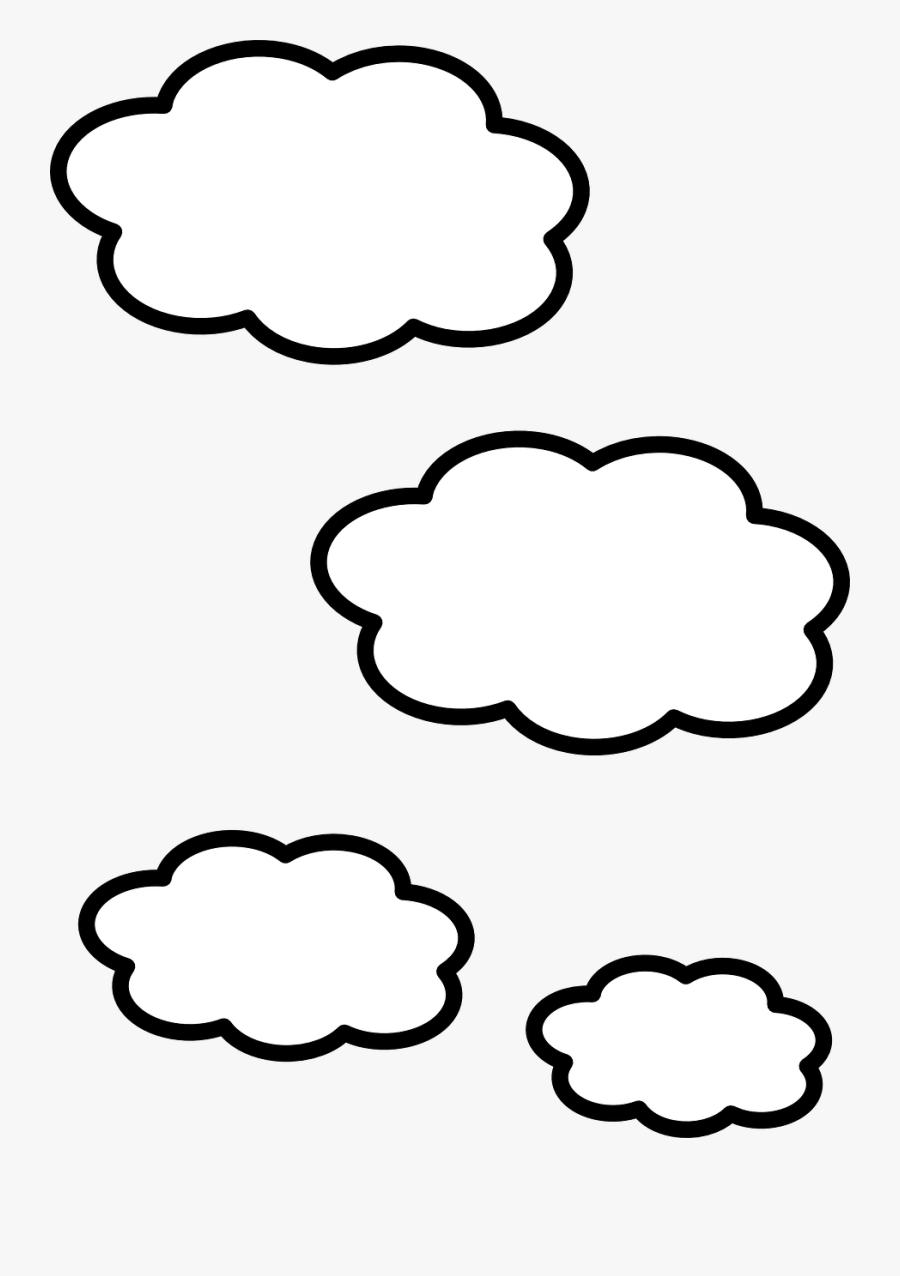 Cloud Clip Art - Clouds Black And White Clipart, Transparent Clipart