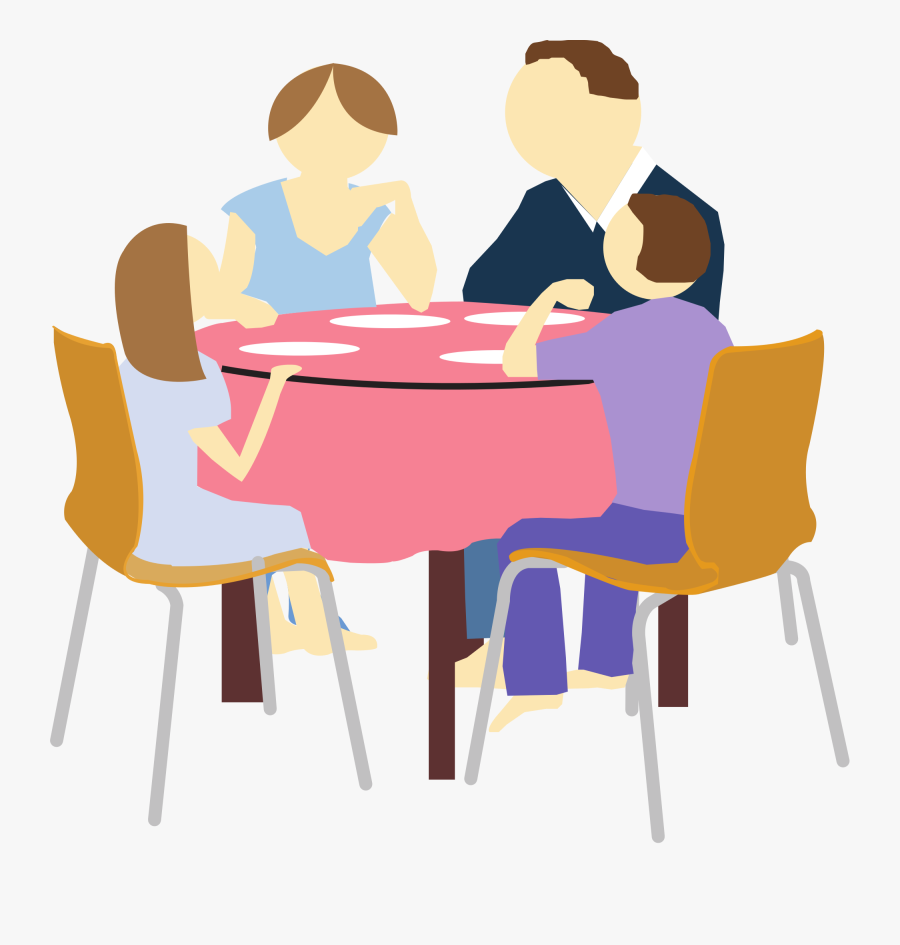 Family Eating Clipart Png, Transparent Clipart