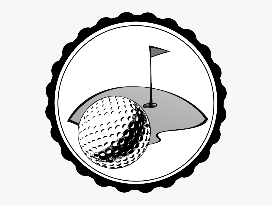 Groom Clip Art Free - Black And White Golf Ball, Transparent Clipart