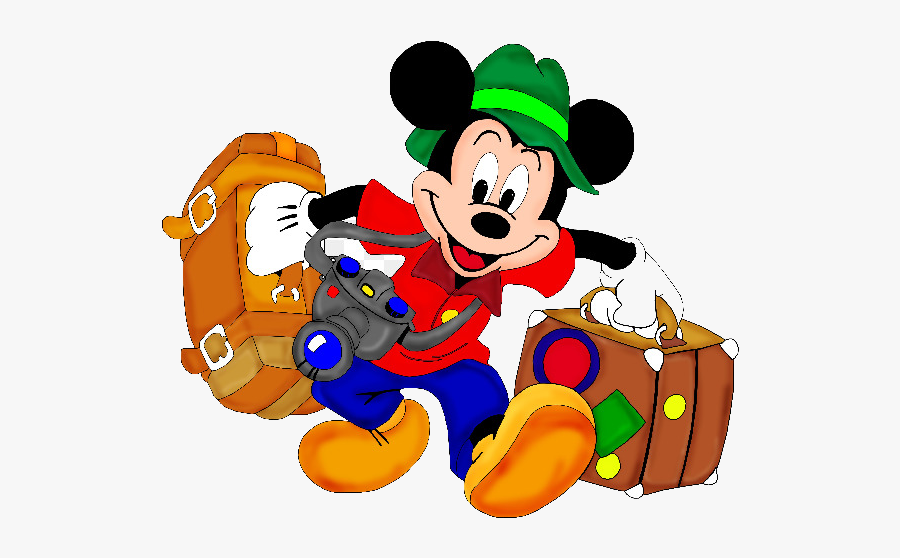 Disney World Walt Vacation Family Clip Art Cliparts - Disney Characters On Vacation, Transparent Clipart
