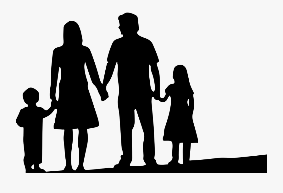 Nuclear Family Silhouette - Family Silhouette Transparent, Transparent Clipart