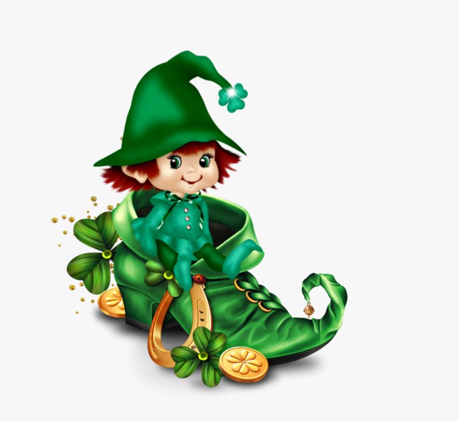 Leprechaun, St Patricks Day, Santos, Luigi, Mario, - St Patrick 2018 Tubes, Transparent Clipart