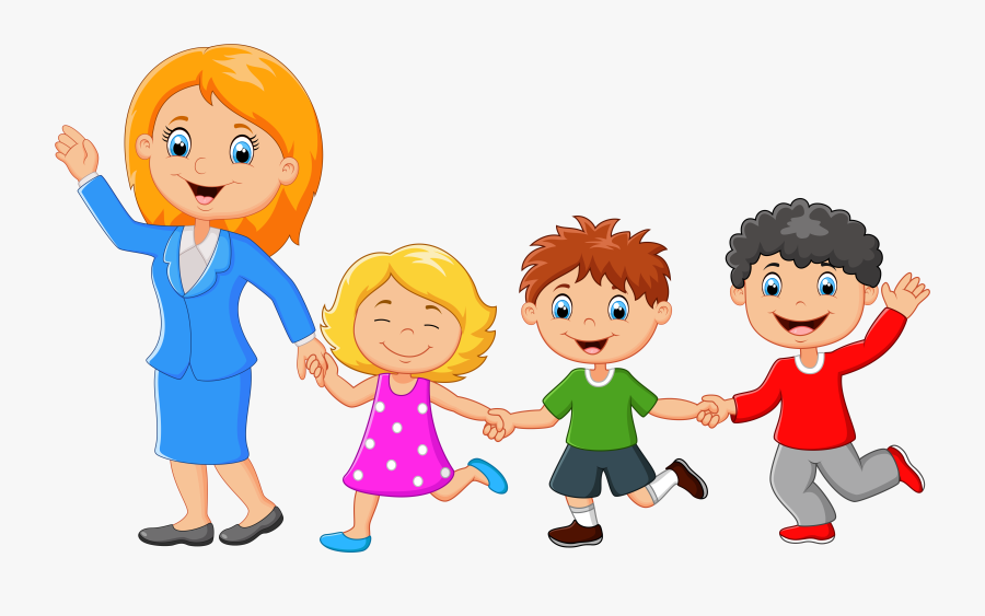 Families Clipart Back - Single Mom Family Cartoon, Transparent Clipart